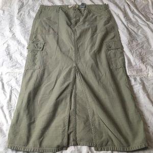 Levis Strauss Cargo Denim Long Maxi Jean Skirt